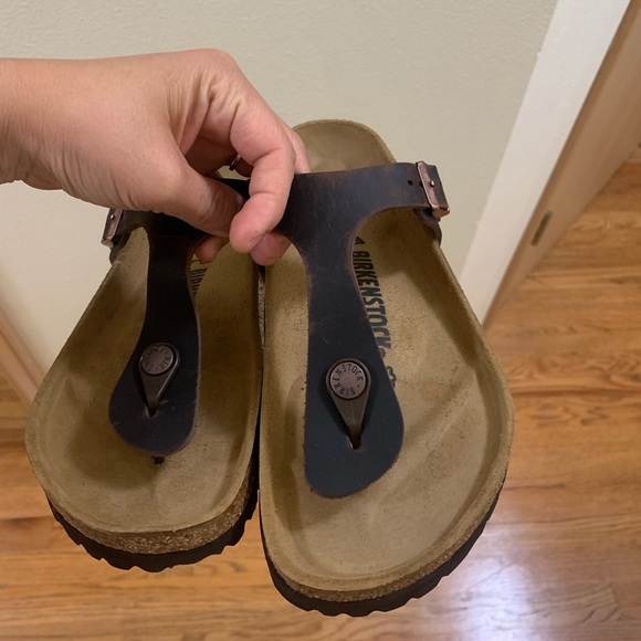 outlet store 7adc2 63720 Birkenstock Gizeh 38 New in box real leather NWT